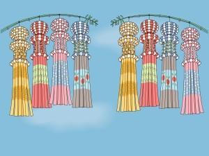 仙台七夕祭り,飾り,由来